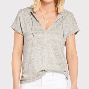 Chaser Short Sleeve Heathered Gray Top